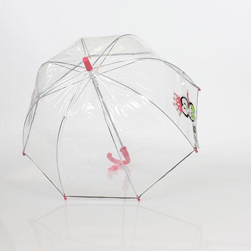 parapluie transparent enfant avec bandes r fl chissantes et poign rose parapluie enfant rue. Black Bedroom Furniture Sets. Home Design Ideas
