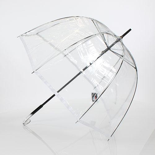 Parapluie cloche transparent ayrens liseret blanc - Parapluie cloche transparent isotoner ...