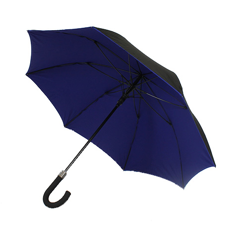 parapluie r sistant vent noir et bleu. Black Bedroom Furniture Sets. Home Design Ideas